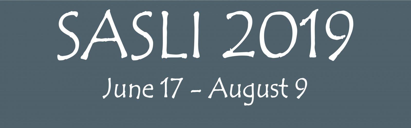 SASLI 2019 June 17-August 9 banner